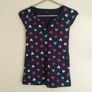 Gap kids navy heart print dress
